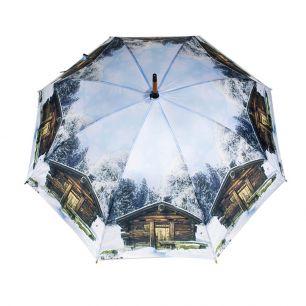 Umbrella chalet