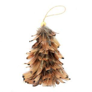 Hanging decoration tree pheasant ringneck (phasianus colchicus torquatus)