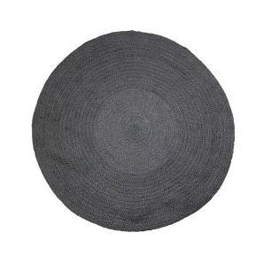 Jute rug black Ø120cm