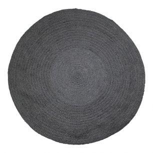 Jute rug black Ø170cm