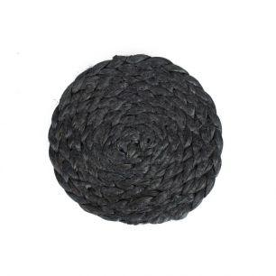 Jute coaster black Ø10cm