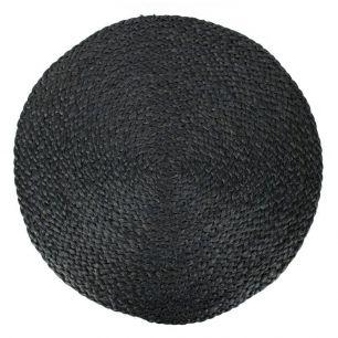 Jute placemat round black Ø 43cm