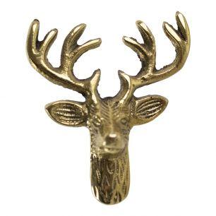 Gold doorknob deer