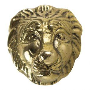 Gold doorknob lion