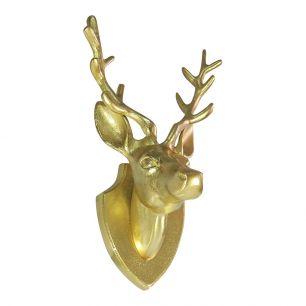 Gold deer head 33cm