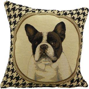 Gobelin cushion french bulldog double-sided 33x33cm