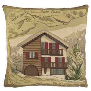 Gobelin cushion chalet mont blanc 45x45cm