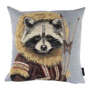 Gobelin cushion coat raccoon 45x45cm