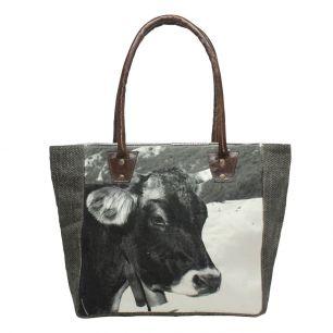 Handbag winter swiss cow