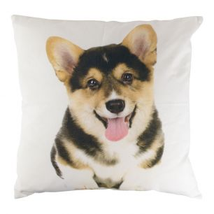 Canvas cushion corgi 50x50cm