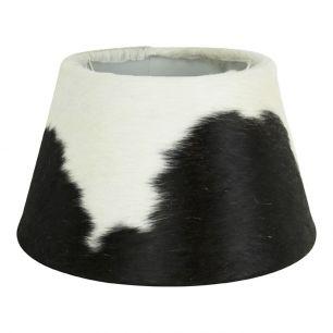 Lampshade cow hide black/white 30cm (bos taurus taurus)