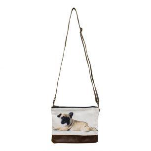 Canvas crossbody bag rectangle pug