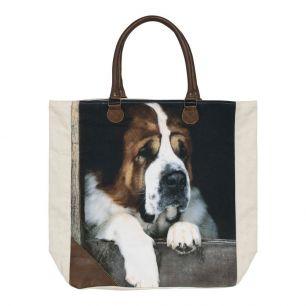 Canvas shopper st. bernard