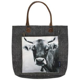 Canvas shopper swiss cow
