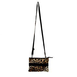 Crossbody bag envelope black panther (bos taurus taurus)