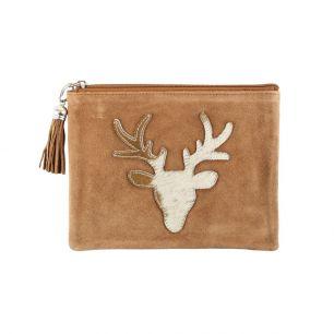 Pouch red deer brown (bos taurus taurus)
