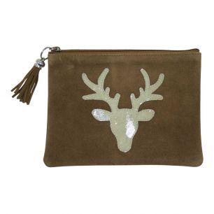 Pouch red deer silver (bos taurus taurus)