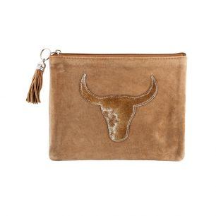 Pouch bull head brown (bos taurus taurus)