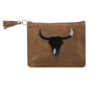 Pouch bull head black (bos taurus taurus)
