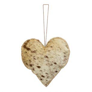 Hanging decoration natural heart large 20cm (bos taurus taurus)