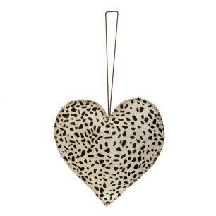 Hanging decoration giraffe heart large 20cm (bos taurus taurus)