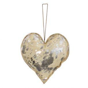 Hanging decoration silver heart large 20cm (bos taurus taurus)