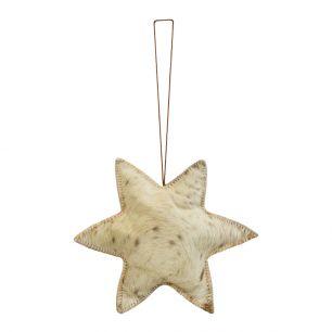 Hanging decoration natural star large 20cm (bos taurus taurus)
