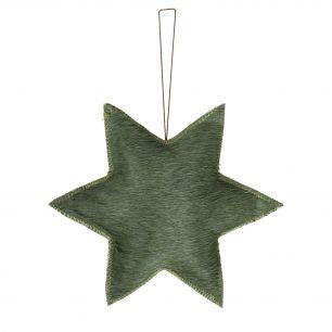 Hanging decoration star green large (bos taurus taurus)