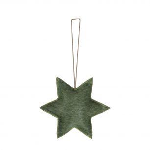 Hanging decoration star green small (bos taurus taurus)