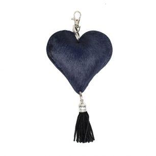Key chain heart blue (bos taurus taurus)