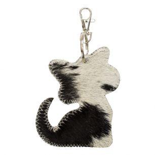 Key chain cat black (bos taurus taurus)