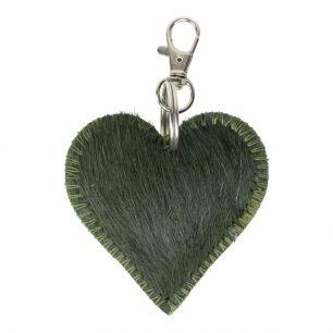 Key chain mini heart green (bos taurus taurus)