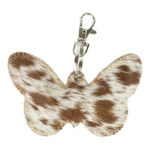 Key chain butterfly brown/white (bos taurus taurus)
