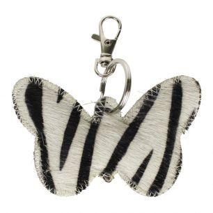 Key chain butterfly zebra (bos taurus taurus)