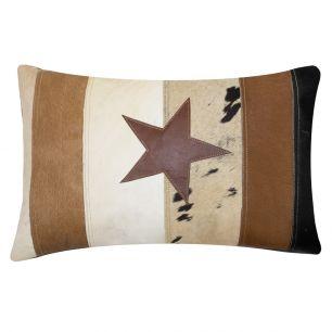 Vintage cushion cow star 40x60cm (bos taurus taurus)