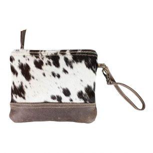 Make-up bag black cow (bos taurus taurus)