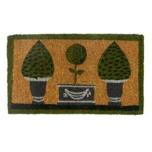 Coir doormat handmade 3 topiary