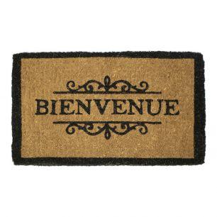 Coir doormat handmade bienvenue
