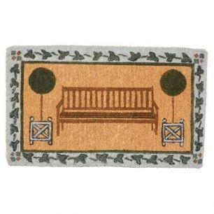 Coir doormat handmade garden bench