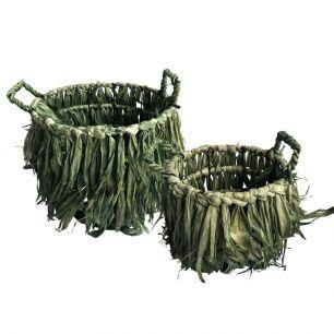 Storage basket grass (set of2)