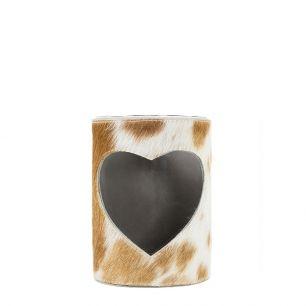 Lantern cow heart brown/white 10cm (bos taurus taurus)