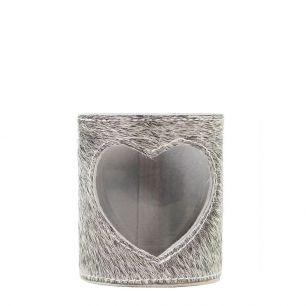 Lantern cow heart grey 10cm (bos taurus taurus)