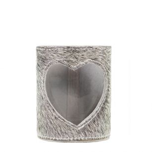 Lantern cow heart grey 15cm (bos taurus taurus)