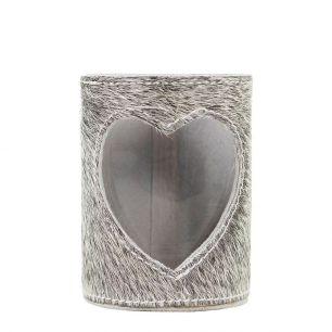 Lantern cow heart grey 20cm (bos taurus taurus)