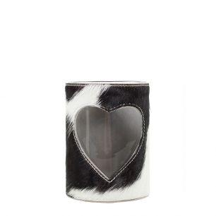 Lantern cow heart black/white 10cm (bos taurus taurus)