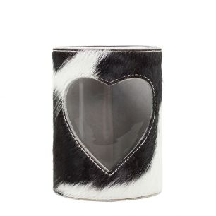 Lantern cow heart black/white 20cm (bos taurus taurus)
