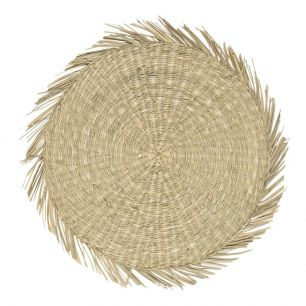 Seagrass placemat round natural