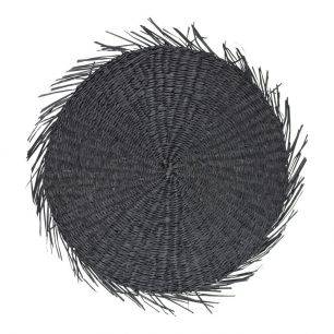 Seagrass placemat round black