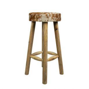 Bar stool cow brown/white 75cm (bos taurus taurus)