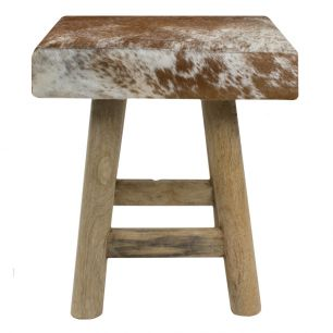 Stool chalet cow red brown square (bos taurus taurus)